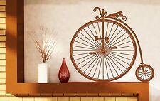 Wall Vinyl Sticker Vintage Bicycle Wheel Great Little Pedal Wheel Seat (n451)