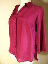 Marina Rinaldi Max Mara Weightless Silk Dark Magenta Pink Blouse MR19 US 10-12