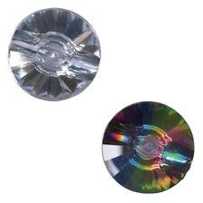 Paquete De 3 Caña Estilo de Prisma de Diamante Dobladillo atrás Botones 12.5mm
