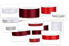 Satinband Geschenkband, 1 Rolle a 25 Meter, Farbe und Breite zur Auswahl