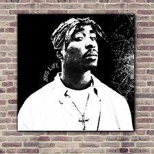 Tupac Shakur 2Pac Black & White Modern Canvas Print Wall Art