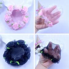 Cute flower girl bun mesh for hair for baby bun net bun cover accessories S6
