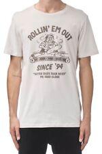 Maglietta T-shirt Uomo Globe Rollin Tee Beige Oyster 100% Cotone