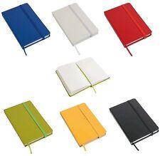 Quaderno diario blocco con chiusura elastico e fogli senza righe 9 x 14 cm 6 col