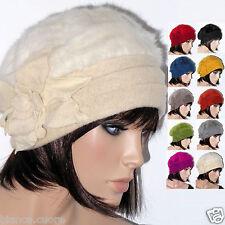 Cappello Donna Lana Angora Avvolgente Bianco Rosso Grigio Nero Ocra Verde  D0299 07f5428940a0