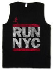 RUN NYC HERREN TANK TOP New York City Run Fun DMC Marathon Letters Hip Läufer