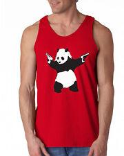 090 Panda Tank Top gun activist world peace green asia funny asian vintage new