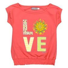 Boboli Niñas Camiseta Love coral Talla 92 - 164