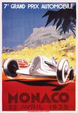 AV35 Vintage 1935 Monaco Grand Prix Motor Racing Poster Re-Print A1 A2 A3
