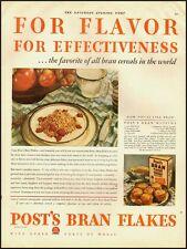 1929 rare vintage ad, POST BRAN FLAKES, Bran muffin recipe- 122512