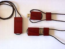 CHIAVETTA CIONDOLO DI LEGNO USB 2.0 4/8/16/32 GB 16GB GADGET/COLLANA/BAMBU 3.0