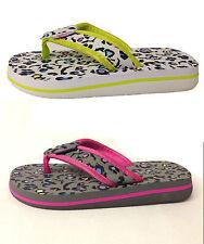 """Girls Urban Beach """"Rock On"""" Flip Flops. White or Grey. Sizes UK 10 - UK 2"""