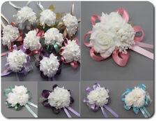 Armband Blume Schleife Bändchen Blumenmädchen Brautjungfer Hochzeit 8 Farben
