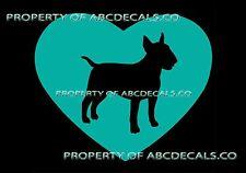 VRS HEART Love Dog Bull Terrier Puppy Rescue Adoption CAR DECAL VINYL STICKER