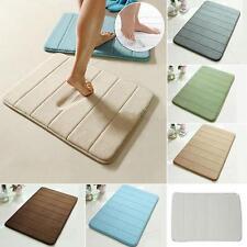 1PC Memory Foam Coral Velvet Bath Room Mat Non-slip Absorbent Rug Pad Carpet LH