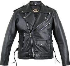 Motorrad Rocker Lederjacke ROCKABILLY Chopper Biker Jacke Clubjacke Bikerjacke