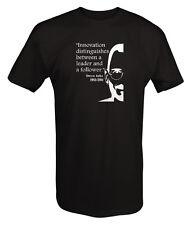 Tshirt -Steve Jobs Innovation between Leader Follower Apple Quote
