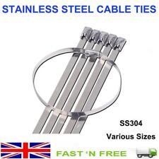 Cable Ties Stainless Steel Marine 304 Grade Strong Metal Zip Tie Wraps Exhaust