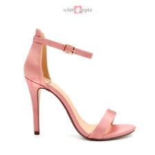 Women Open Toe Ankle Strap Party Dress Wedding Satin Sandal High Heel Tyrell