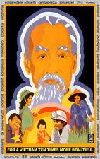Solidarity POSTER quality print.Ho Chi Minh Vietnam.Political room decor.q932
