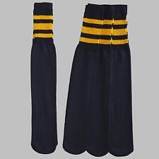 12 Pairs 1 Dozen Black Tube Socks with Orange Stripes Classic Retro Old School