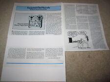 Akai GX-635d Open Reel Review, 3 pgs, 1979, Full Test