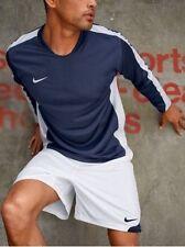 Nike Shirt à Manches Longues Neuf GR.XL ,XXL Hommes Football Haut Bleu-Blanc