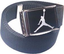 Jordan Jumpman Black White Belt Buckle Bottle Opener Adjustable Web Belt