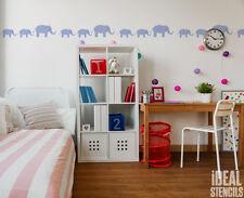 Elephant Nursery Stencil Border Paint Walls Furniture Fabrics Reusable Stencils