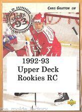 1992-93 Upper Deck RC | #585-619 | Hockey | LOT x1 | U Pick