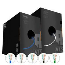 ATSCables Cat5e/Cat6 Plenum 1000ft CMP UTP Cable Blue-White-Black-Gray-Green