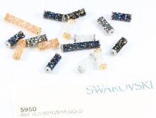 NOUVEAU Authentique SWAROVSKI 5950 fine Rock Tube Perles de métal terminaisons * Plusieurs Couleurs