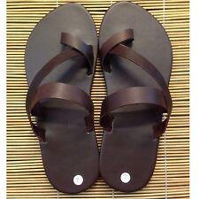 Open Toe Pose Strap Flats Handmade Leather Boho Shoes Sandals Men Tomboy Slipper