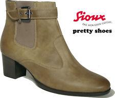 SIOUX Stiefelette City Stiefel Mod. SOMERA Form SOFIE braun grau Leder Sacchetto