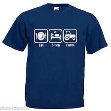 Agricoltore trattore da fattoria Adulti Da Uomo T Shirt 12 Colori Taglia S - 3XL