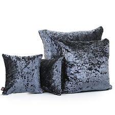 New Luxury Crush Velvet Denim Fabric Cover & Filling Cushions British Handmade