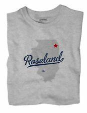 Roseland Illinois IL Ill T-Shirt Chicago MAP