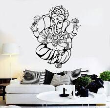 Vinyl Wall Decal Ganesha God Hindu India Religion Stickers (ig4488)