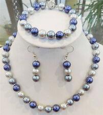 Pretty 8mm Multicolor South Sea Shell Pearl Necklace Bracelets Earrings