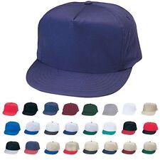 Cotton Twill Hats Caps Blank Two Tone 5 Panel Baseball Snapback
