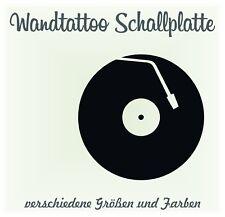 Wandtattoo - Schallplatte Vinyl Phono Retro Sticker Aufkleber Wandbild
