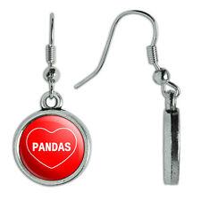Novelty Dangling Drop Charm Earrings I Love Heart Animals P-S