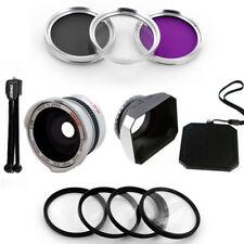 30.5mm Wide Fish Eye Lens, Filter,Macro,Hood for JVC Everio GZ-HD300,HD320