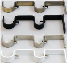 curtains expert-16x5cm metal double heavy duty pole wall bracket  ( 2 Piece )…