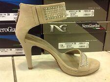 Nero Giardini p207571de sandali da donna in camoscio con strass linea elegante