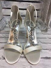 ex ASOS ASOS HERMOSA wide fit Bridal Heeled Sandals size UK6 (S4/15)