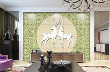 3D Bucks und doe 234 Fototapeten Wandbild Fototapete BildTapete Familie