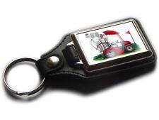 GOLF BUGGY Sports Cart Koolart Quality Leather and Chrome Keyring