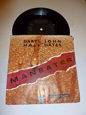 "DARYL HALL & JOHN OATES - Maneater - 1982 UK 7"" Vinyl Single With Sleeve"