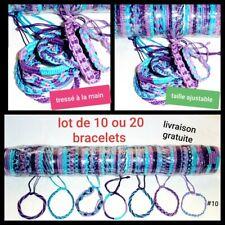 Lot de Bracelets Brésiliens Coton Revendeur Grossiste lot 10 ou 20 Amitié violet